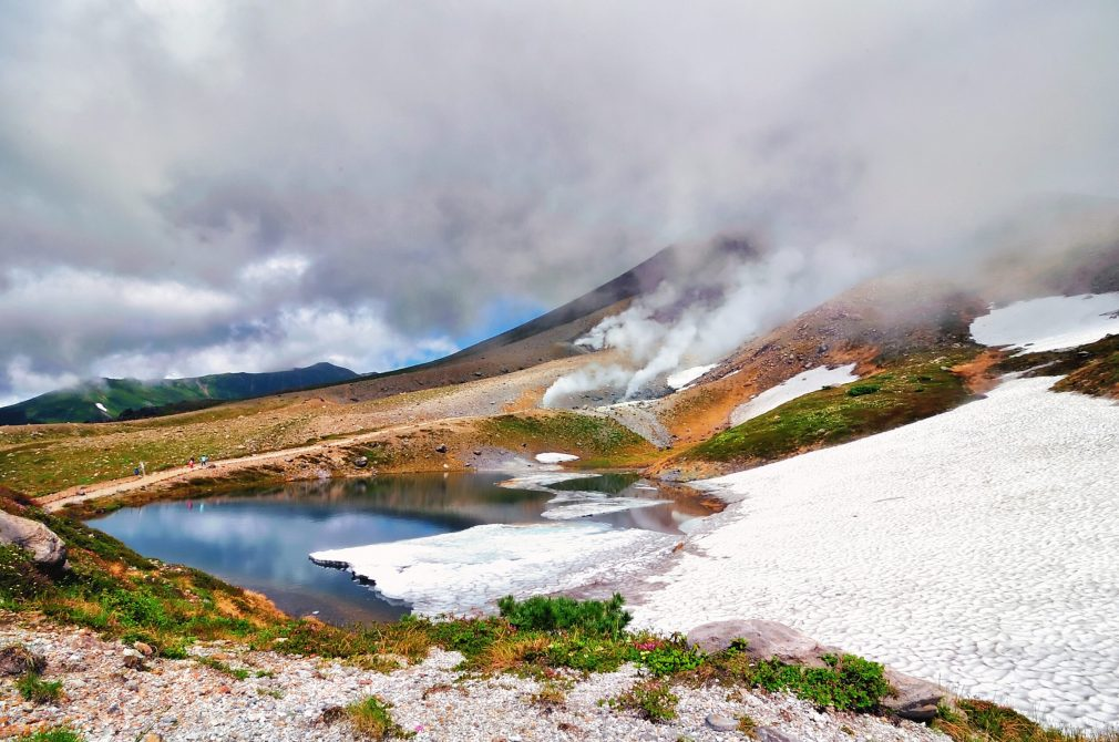 Steam,Pressure,Above,The,Surface,And,Glaciers,Cover,Lake,Of